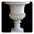shapely italian neoclassical style carved carrara marble campagna urn