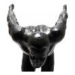 An Expressive Bronze Sculpture of a Diver