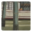 Watercolor on Paper 'Sea Dog, Santa Barbara, California' signed by Michael Dunlavey