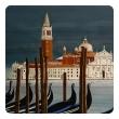 Watercolor on Paper 'Chiesa di San Maggiore, Venice' signed Michael Dunlavey