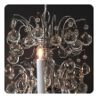 stylish french 1960's chrome basket-form 8-light chandelier with crystal spheres