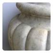 large and refined pair of italian neoclassical style carved carrera marble lobed marble urns
