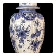 large and good quality dutch 19th century blue and white tin-glazed delft ginger jar now mounted as a lamp