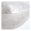 exquisite french clear and frosted glass bird bowl by Lalique