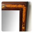 A Large Dutch 19th Century Mahogany and Floral Marquetry Mirror