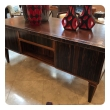 handsome and boldly-scaled french art deco macassar-veneered pedestal desk