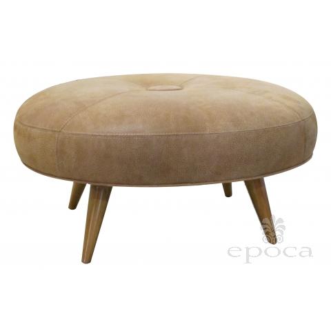 a handsome american mid-century heywood wakefield maplewood oval stool