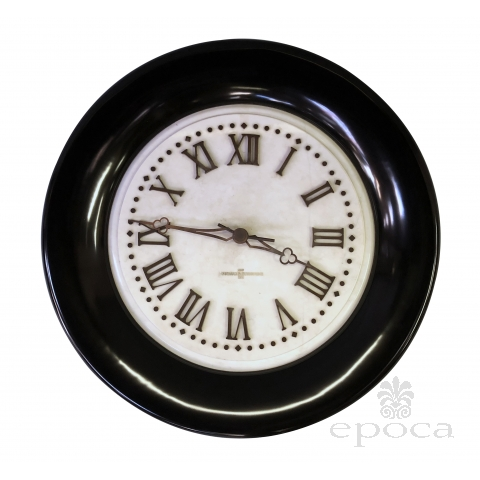 an impressive american Standard Electric Time Co. marble clock with ebonized wooden frame