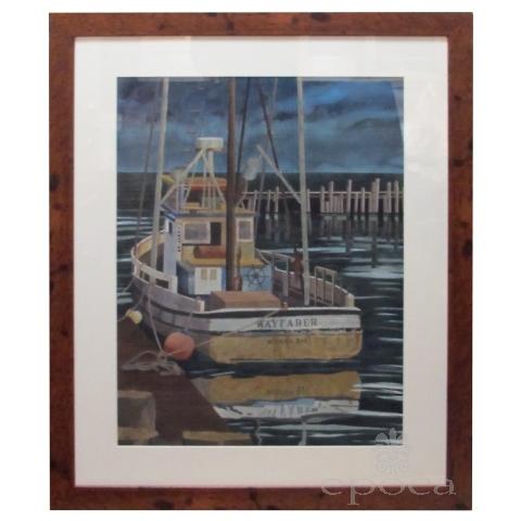 Watercolor on Paper  'Wayfarer, Noyo Harbor, California by Michael Dunlavey