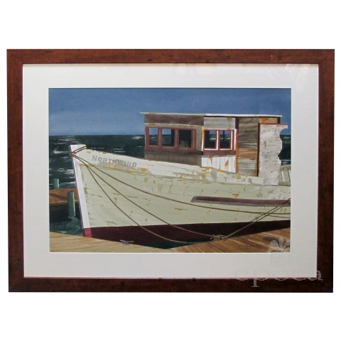 Watercolor on Paper 'Northwind, Bodega Bay, California' by Michael Dunlavey